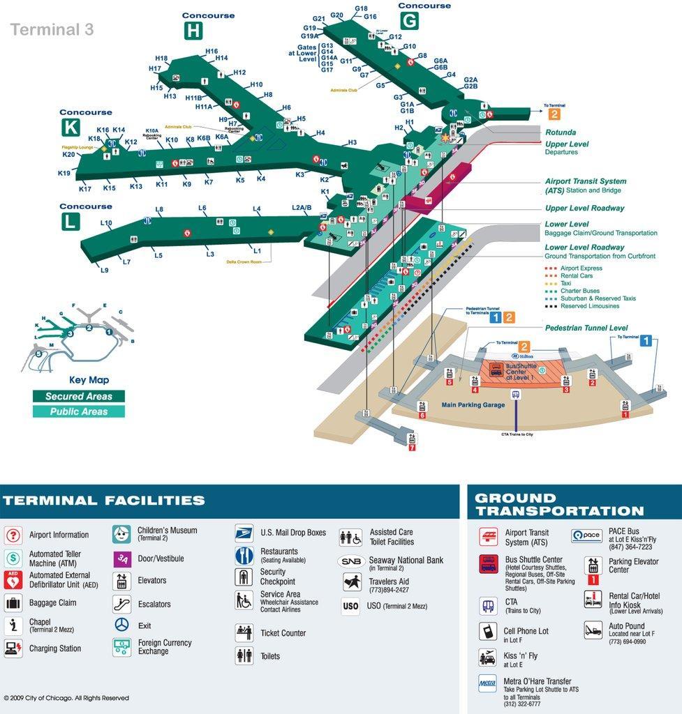 Ord terminal 3 map - Karte von ord terminal 3 map Chicago ...