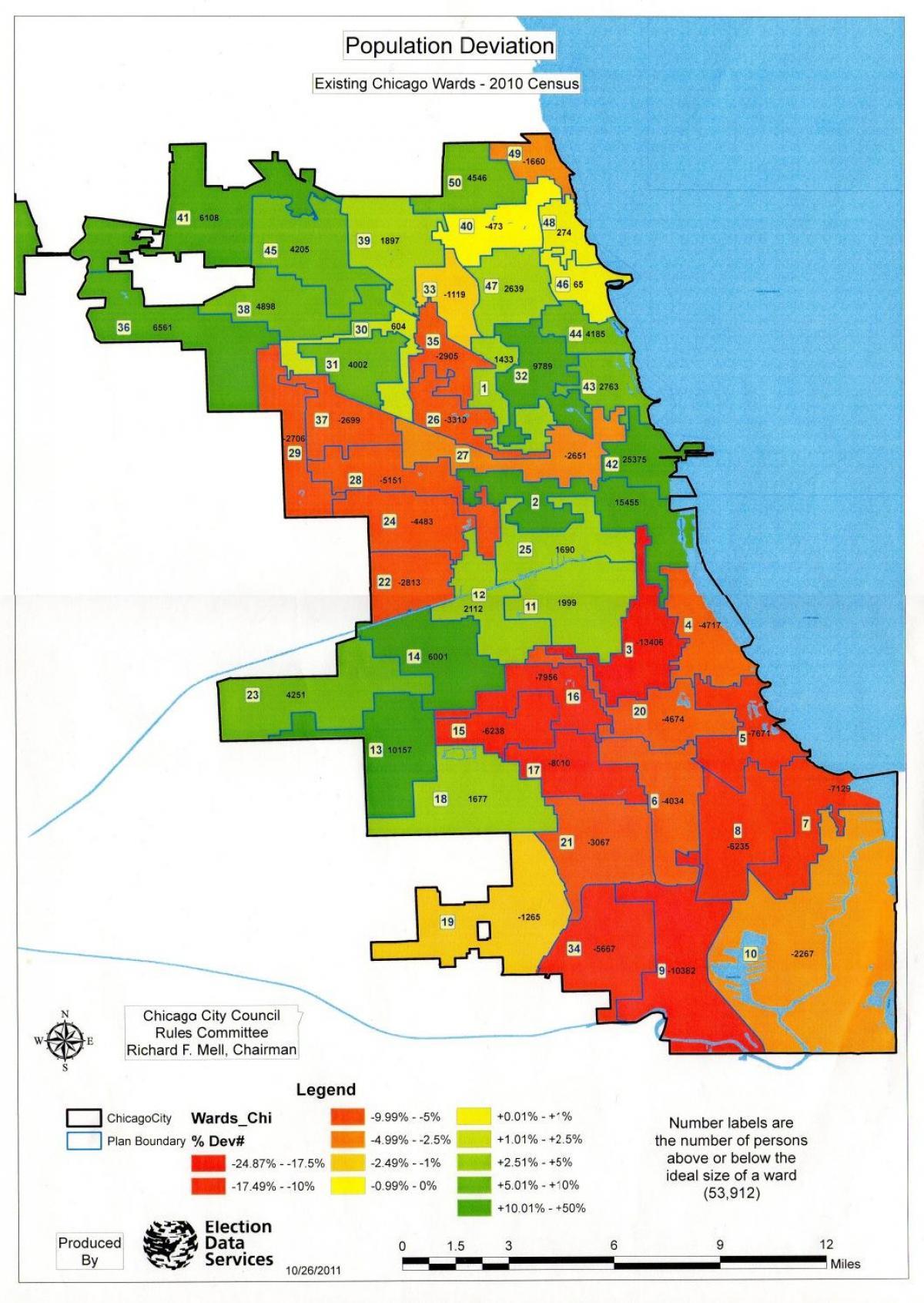 Chicago zoning map - Chicago zone anzeigen (Vereinigte Staaten von on