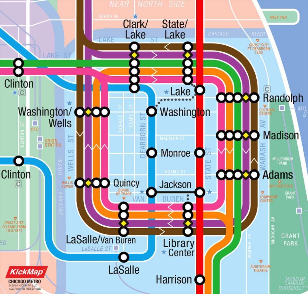 Karte von Chicago loop - Loop-Chicago anzeigen (Vereinigte Staaten on