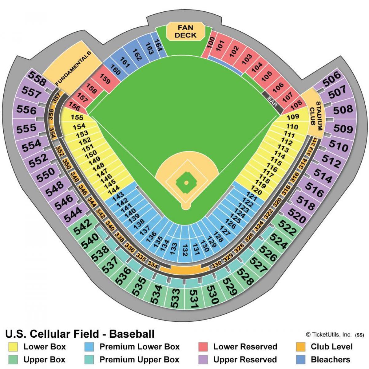 Wrigley field seating map - Wrigley Sitz Landkarte ...