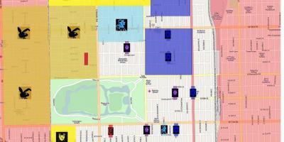 Kriminalität Karte Chicago - Crime map von Chicago (Vereinigte ...