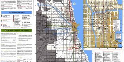 Chicago map - Maps-Chicago (Vereinigte Staaten von Amerika) on
