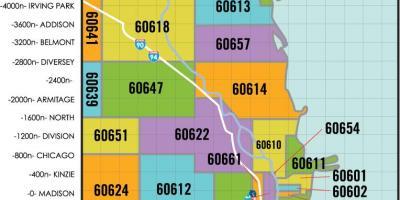 Zip code map Chicago - Chicago area zip code map (Vereinigte Staaten ...